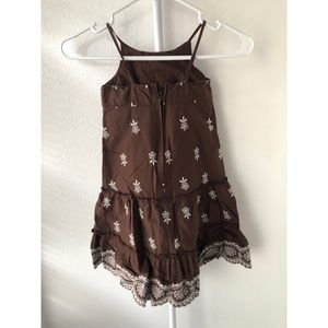 GAP Dresses - Baby Gap Brown and White Dress 4T